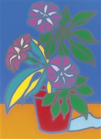 untitled (stillife [sic] petunia) by howard arkley